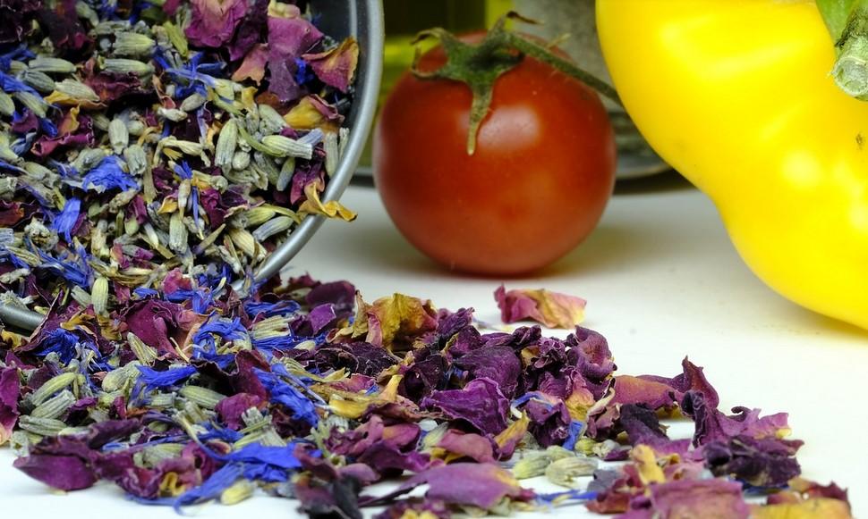 Le mode de conservation des fleurs comestibles